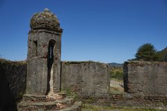 Historic fort protecting Valdivia in Southern Chile Stock Photography