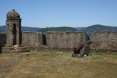 Historic fort protecting Valdivia in Southern Chile Royalty Free Stock Photos