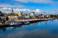 Valdivia by the river, Chile Royalty Free Stock Image