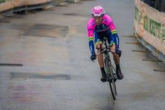 Valdobbiadene, Itália 23 de maio de 2015; Ciclista profissional durante uma fase da excursão de Itália 2015 Imagem de Stock Royalty Free