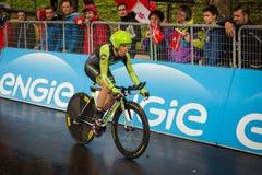 Valdobbiadene, Itália 23 de maio de 2015; Ciclista profissional durante uma fase da excursão de Itália 2015 Imagens de Stock