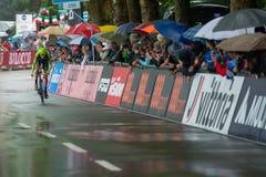 Valdobbiadene, Itália 23 de maio de 2015; Ciclista profissional durante uma fase da excursão de Itália 2015 Fotografia de Stock Royalty Free