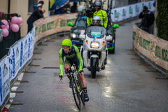 Valdobbiadene, Italy May 23, 2015; Professional cyclist during a stage of the Tour of Italy 2015 Royalty Free Stock Image