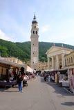 Valdobbiadene-Straßenmarkt Stockbild