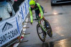 Valdobbiadene, Włochy Maj 23, 2015; Fachowy cyklista podczas sceny wycieczka turysyczna Włochy 2015 Zdjęcie Royalty Free