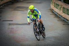 Valdobbiadene, Włochy Maj 23, 2015; Fachowy cyklista podczas sceny wycieczka turysyczna Włochy 2015 Zdjęcia Royalty Free