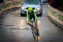 Valdobbiadene, Włochy Maj 23, 2015; Fachowy cyklista podczas sceny wycieczka turysyczna Włochy 2015 Obrazy Stock