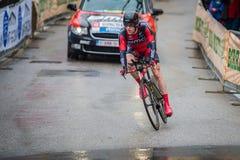 Valdobbiadene, Włochy Maj 23, 2015; Fachowy cyklista podczas sceny wycieczka turysyczna Włochy 2015 Zdjęcia Stock