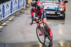 Valdobbiadene, Włochy Maj 23, 2015; Fachowy cyklista podczas sceny wycieczka turysyczna Włochy 2015 Obraz Stock