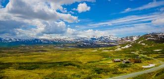 VALDRES, NORVEGIA - 6 LUGLIO 2015: Natura sbalorditiva sopra Immagini Stock Libere da Diritti