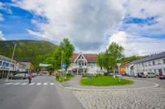 Free VALDRES, NORWAY - 6 JULY, 2015: Charming Town Of Royalty Free Stock Image - 58868516