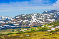 VALDRES, NORWAY - 6 JULY, 2015: Stunning nature on Royalty Free Stock Photos