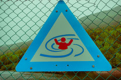 VALDRES, NORWAY - 6 JULY, 2015: Warning sign for Stock Photography