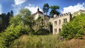 Valdstejn u. x28; Wallenstein& x29; Ziehen Sie sich im Böhmen-Paradies, Tschechische Republik zurück Lizenzfreies Stockfoto