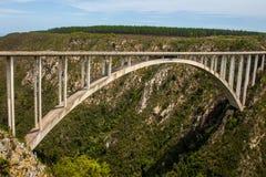 Vale África do Sul das naturezas da ponte do salto de Bloukrans Bungy fotografia de stock