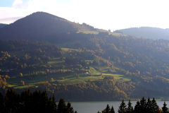 Vale alpino Fotografia de Stock