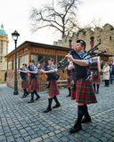The Vale of Atholl Pipeband in Baku Royalty Free Stock Image