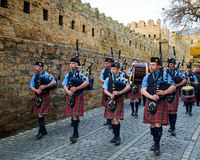 The Vale of Atholl Pipeband in Baku Stock Image