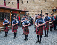 The Vale of Atholl Pipeband in Baku Stock Photo