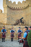 The Vale of Atholl Pipeband in Baku Royalty Free Stock Photography