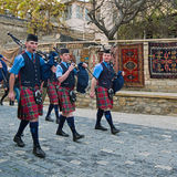 The Vale of Atholl Pipeband in Baku Royalty Free Stock Photos