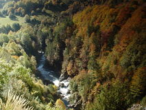Vale Bujaruelo, perto do parque nacional de Ordesa Fotografia de Stock
