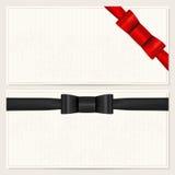 Vale, chèque-cadeaux, carte cadeaux, cupón Imágenes de archivo libres de regalías