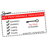 Vale chave dos indicadores de desempenho Imagens de Stock Royalty Free