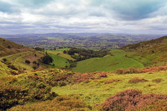 The Vale of Clwyd, Wales 003. The Vale of Clwyd and Offa's Dyke taken from Moel Arthur, Flintshire, North Wales Stock Photo