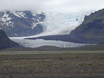 Vale da geleira Imagens de Stock Royalty Free