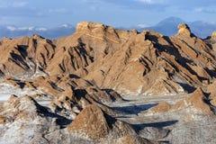 Vale da lua - deserto de Atacama - o Chile imagem de stock royalty free