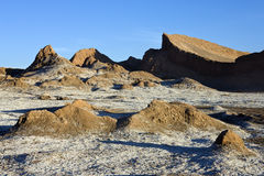 Vale da lua - deserto de Atacama - o Chile foto de stock