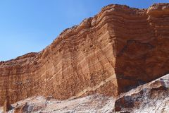 Vale da lua - la Luna de Valle de, deserto de Atacama, o Chile imagem de stock royalty free