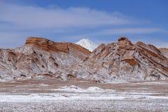 Vale da lua - la Luna de Valle de, deserto de Atacama, o Chile imagens de stock