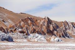 Vale da lua - la Luna de Valle de, deserto de Atacama, o Chile foto de stock royalty free