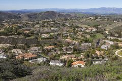 Vale da mansão de Califórnia Fotografia de Stock Royalty Free
