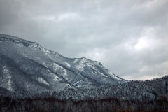 Vale da montanha da neve Imagens de Stock Royalty Free