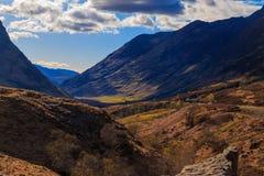 Vale da montanha, Glencoe, Escócia fotos de stock royalty free