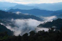 Vale da névoa Fotografia de Stock
