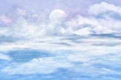 Vale da neve ilustração stock