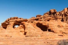 Vale da paisagem vermelha da rocha do fogo Fotografia de Stock Royalty Free
