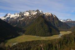 Vale da trilha de Routeburn Foto de Stock
