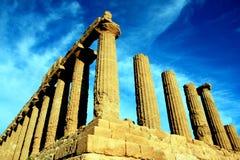 Vale das ruínas gregas dos templos, Agrigento Italy Fotografia de Stock Royalty Free