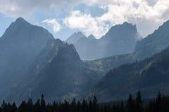 Vale de Bielovodska em montanhas de Tatry Fotografia de Stock Royalty Free
