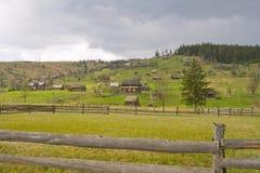 Vale de Carpathians Fotos de Stock