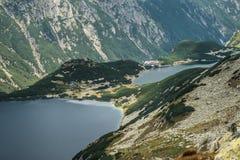 Vale de cinco lagoas polonesas imagem de stock royalty free