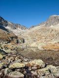 Vale de cinco lagos Spis Montanhas elevadas de Tatra, Slovakia fotografia de stock