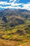 Vale de Colca, Peru imagens de stock royalty free