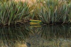 Vale de Eglinton, lagos do espelho ao longo do caminho da estrada do milford, Nova Zelândia Foto de Stock