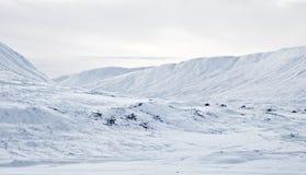 Vale de Ericht do rio da passagem de Drumochter, Scotland foto de stock